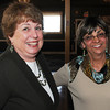"Danvers:<br /> Dale Miller-Bouton, left, EEC teacher at the Memorial Building, and Pam Fall, retired teacher, attend the Beverly Teachers Association ""Celebration of Excellence"" champagne reception held at the Danversport Yacht Club.<br /> Photo by Ken Yuszkus/Salem News, Tuesday June 7, 2013."