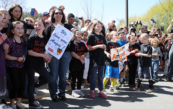 Beverly: Centerville Elementary School students lined the sidewalk in front of their school, eagerly anticipating the arrival of Beverly native and American Idol Finalist Angie Miller, on Saturday afternoon. David Le/Salem News