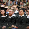 Wenham: Graduates of Gordon-Conwell Theological Seminary listen to classmate April Rhodes give her student address. David Le/Salem News