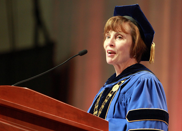 Salem: Salem State University President Patricia Maguire Meservey address the graduating class of 2013 on Saturday afternoon. David Le/Salem News