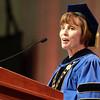 Salem: Salem State University President Patricia Maguire Meservey address the graduating class of 2013 on Saturday afternoon. David Le/Salem News