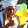 Peabody: Peabody High School graduate Bianca Muscato shows off a colorful balloon she made for Graduation on Friday evening. David Le/Salem News