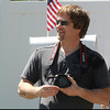 AMY  SWEENEY/Staff photo<br /> Guy Miller waits for his daughter American Idol Angie Miller outside their Beverly home.