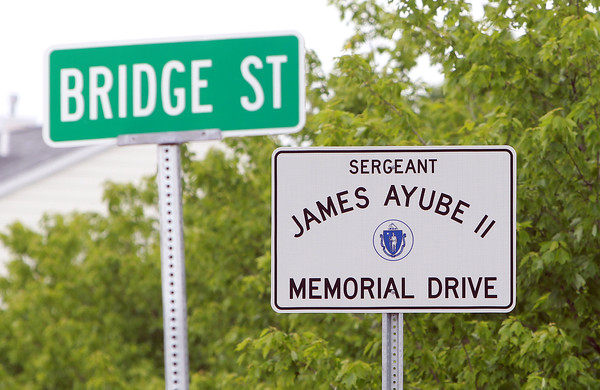 Salem: Salem's new veteran's agent is starting a project to re-dedicate and put up new signs at veteran's squares around the city. Sergeant James Ayube II Memorial Drive signs have been put up at either end of the bypass. David Le/Salem News