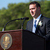Peabody: Peabody Mayor Ted Bettancourt gives his opening remarks to the 2013 Peabody High School graduates on Friday evening. David Le/Salem News