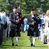 Wenham: Two bagpipers led the way for the Gordon College Class of 2013 at the start of Commencement on Saturday morning. David Le/Salem News