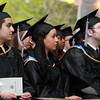 Swampscott: Marian Court College graduates listen to Essex County Sheriff Frank G. Cousins Jr. give the Commencement Address on Wednesday evening. David Le/Salem News