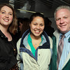 Beverly: Kristin Ashley Preston, Adrianna Avery, and Bill Carroll, of Salem Waterfront Hotel, at a Salem Chamber of Commerce Harbor Boat Cruise aboard the Salem Ferry on Tuesday evening. David Le/Salem News