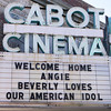 Beverly: A sign outside Cabot Cinema welcomed Beverly native Angie Miller home. David Le/Salem News