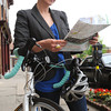 Salem:<br /> Kristin Anderson plans to bicycle across the country this summer, building houses along the way, through the Bike and Build program. <br /> Photo by Ken Yuszkus/Salem News,  Wednesday May 22, 2013.