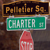 Salem: Salem's new veteran's agent is starting a project to re-dedicate and put up new signs at veteran's squares around the city. A sign for Pelletier Square at the corner of Charter Street and Hawthorne Boulevard. David Le/Salem News