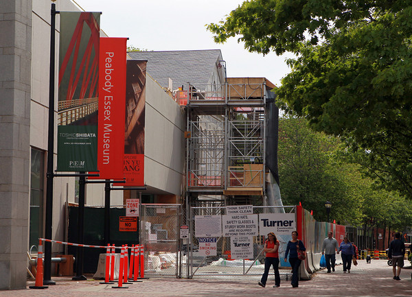Salem: Construction outside the Peabody Essex Museum has continued longer than expected. David Le/Salem News 5/28/13
