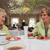 Salem:<br /> Marjorie Snow, left, and June DeRoin talk at the annual Florence Cobb Coffee hosted by the Woman's Friend Society which was held at the Emmerton House Wednesday morning. Proceeds support Emmerton House, Brookhouse Home for Women and Plummer Home for Boys.<br /> Photo by Ken Yuszkus/Salem News, Wednesday June 8, 2013.