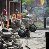Salem:<br /> Work is underway at the Essex Street pedestrian mall.<br /> Photo by Ken Yuszkus/Salem News, Wednesday June 15, 2013.