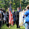 Wenham: Freshman Hannah Swor and junior Chris Gavrielidis lead the 2013 Gordon College graduates into Commencement on Saturday morning. David Le/Salem News