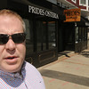 Beverly:<br /> Prides Osteria owner Michael Magner stands outside of his restaurant where he will soon offer outdoor dining on the sidewalk. Prides Osteria is one of two restaurants that will particpate in a pilot program this summer for Beverly.<br /> Photo by Ken Yuszkus/Salem News, Friday June 10, 2013.