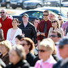 Salem: Hundreds of people gathered outside the Bertolon School of Business on Monday afternoon to honor 2009 Salem State graduate Sean Collier, who was lost in the line of duty April 18, 2009, while working as an MIT police officer. David Le/Salem News