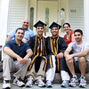 Beverly: Twins Adi, center left, and Idan Davidyan, center right, graduating seniors at Beverly High School, are Valedictorian and Salutatorian and will give the Valedictory address together on Sunday afternoon. They are surrounded by older brothers Raz, left, and Matan, right, and their parents, Dr. Eli Davidyan, back left, and Dina, back right. David Le/Salem News