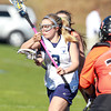 Peabody: Peabody's Sarah Napolitano drives to the net against Beverly on Friday afternoon. David Le/Salem News