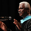 Salem: Dr. Charles Desmond, of the Massachusetts Department of Higher Education Board, addresses the 2013 graduates of North Shore Community College on Thursday evening. David Le/Salem News