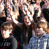 AMY SWEENEY/Staff photo. Fans sing along with American Idol Angie Miller at the concert held at Beverly High School on Saturday.