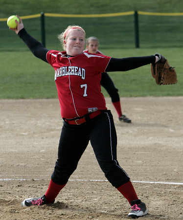 Marblehead:<br /> Marblehead's pitcher Michaela Leblanc throws during the Salem at Marblehead softball game.<br /> Photo by Ken Yuszkus/Salem News, Monday June 6, 2013.