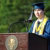 Peabody: Peabody Valedictorian James Nakashian gives his Valedictory Address to his classmates on Friday evening. David Le/Salem News