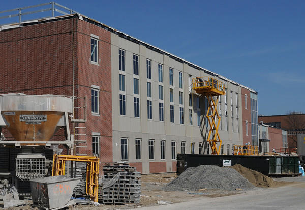 March 12, 2012: Construction of the Danvers High School continues.<br /> Photo by Ken Yuszkus/Salem News