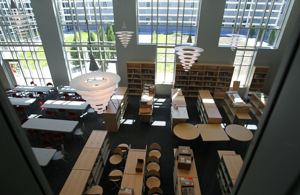 Aug. 29, 2012: The new library at Danvers High School.<br /> David Le/Staff Photo