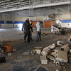 April 6, 2011: Work in the gymnasium is part of the construction at Danvers High School.<br /> Photo by Ken Yuszkus/Salem News