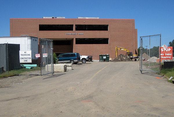 Aug. 29, 2012: The Dunn Wing at Danvers High is scheduled to be torn down next month to make way for the second phase of construction of the $71 million project.<br /> Ethan Forman/staff photographer