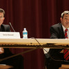 State Rep. Ted Speliotis speaks during a debate against oponent Daniel Bennett held at Peabody City Hall. Oct. 18. Photo by Deborah Parker.