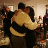 Dan Bennett receives a hug from supporter Natalie Fiore of Danvers while at his home in Danvers Tuesday evening. Bennett lost to Speliotis in the race for State Representative. Photo by deborah parker/november 2, 2010