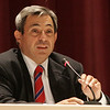 State Representative Ted Speliotis speaks during a debate with oponent Dan Bennett held at Peabody City Hall. Photo by Deborah Parker/October 18, 2010