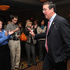 Peabody:<br /> Bill Hudak who lost the congressman's race for the 6th district walks toward the podium to give his concession speach at the Peabody Marriott on Tuesday evening. <br /> Photo by Ken Yuszkus/salem News, Tuesday, November 2, 2010.