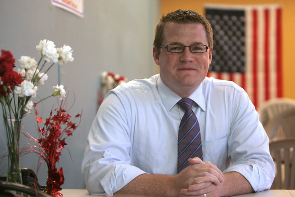 State representative candidate Brett Schetzsle. Photo by Deborah Parker/October 04, 2010.