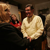 Dan Bennett shakes the hand of supporter Nancy Kieran of Danvers while at his home in Danvers Tuesday evening. Bennett lost to Speliotis in the race for State Representative. Photo by deborah parker/november 2, 2010