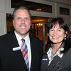 Danvers:<br /> Paul Lewan and Nancy Furnari, both of First Ipswich Bank, attend the North Shore Chamber of Commerce annual dinner held at Danversport Yacht Club.<br /> Photo by Ken Yuszkus / The Salem News, Tuesday, November 19, 2013.