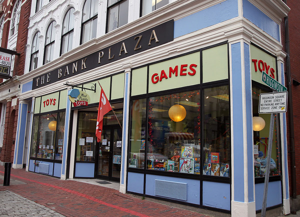 """Salem: Mud Puddle Toys, at 217 Essex St. has had to compete with big box retailers and people who use their shop to """"showroom"""" products before buying them online. David Le/Salem News"""