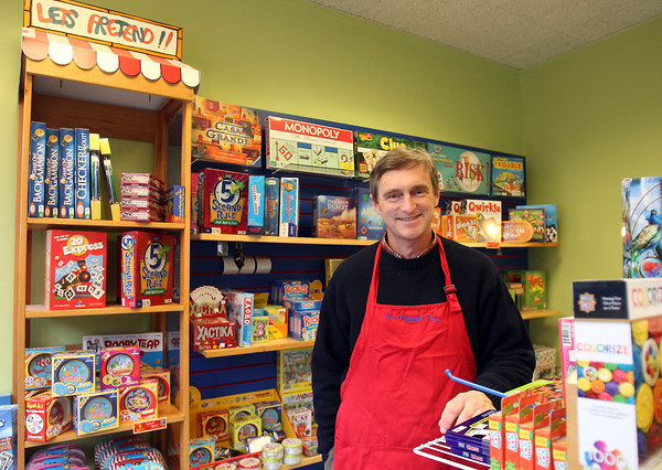 "Salem: Sam Pollard is the co-owner of Mud Puddle Toys, who opened its second shop in downtown Salem in 2010. Their second location, at 217 Essex St. has had to compete with big box retailers and people who use their shop to ""showroom"" products before buying them online. David Le/Salem News"