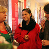Salem: Marissa Muggeo, of Beverly, center and Vanessa Codoba, right, of Los Angeles, CA, talk with Kathleen Fitzgerald, owner of Salem Soapworks at the Winter Farmer's Market inside the old Salem City Hall on Thursday afternoon. David Le/Salem News
