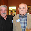 Marblehead:<br /> Jim Carone, left, and his uncle, Fred Carone, both played football for Swampscott, attended the Marblehead-Swampscott annual 'Old-Timers Night' at the Gerry 5 Club in Marblehead.<br />  Photo by Ken Yuszkus / The Salem News, Monday, November 25, 2013.