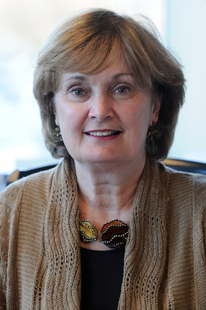 Danvers:<br /> Hospice of the North Shore and Greater Boston president Diane Stringer annouces the new name for the organization.<br /> Photo by Ken Yuszkus / The Salem News, Thursday, November 14, 2013.