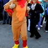 Peabody:<br /> Joanna Filetto, dressed as an oversized turkey, and scores of people from Brooksby Village start the annual Turkey Trot at Brooksby Village in Peabody to benefit Haven From Hunger.  <br /> Photo by Ken Yuszkus / The Salem News, Wednesday, November 20, 2013.