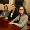 Salem: From left, newly elected Salem Councilor-at-large Elaine Milo, Ward 6 Councilor Beth Gerard, and Ward 2 Councilor Heather Famico, all took home victories over the incumbent members in their respective positions yesterday evening. David Le/Salem News