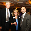 Lynnfield: Mike and Deborah Ryan, and Edward Lomasney at the 82nd Dinner and Ankeles Award Ceremony held by the Peabody Area Chamber of Commerce at Spinelli's on Route 1 in Lynnfield on Wednesday evening. David Le/Salem News