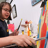 Beverly: Twelve-year-old Alex Mooney, of Beverly, works on a painting during an after school class at Let's Get Creative at 267 Cabot St in Beverly on Thursday evening. David Le/Salem News