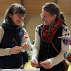 Beverly: Liz Brown, left, and Annie Wright, of Beverly, look at bracelets available for purchase at the annual Beverly Holiday Fair at First Baptist Church on Saturday morning. David Le/Salem News