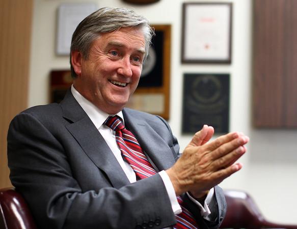 Beverly: Congressman John Tierney speaks with The Salem News on Wednesday at The Salem News office. David Le/Salem News