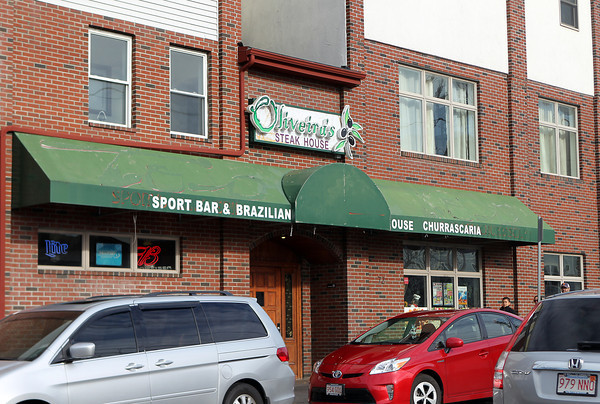 Peabody: The Peabody Police Chief wants the license for Oliveira's Steakhouse on Walnut St. in Peabody revoked due to repeated violence. David Le/Salem News